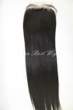 1b color light yaki hair closure