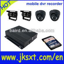 sim card 4ch mini mobile dvr 64GB & school bus surveillance system built-in GPS
