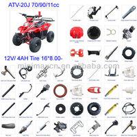 ATV Spare Parts Motorcycle Parts CG/CB/CG/GY6 50/70/90/110/125/200/250cc all parts available ATV-20J 70/90/110cc