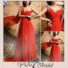 CK0135 Backless One Shoulder Rose Red Evening Dress