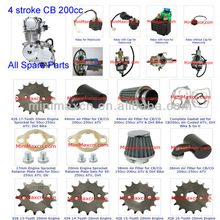 ATV Spare Parts Moped Parts Motorcycle Parts 4-Stroke 200cc CB Vertical Engine