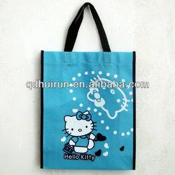 fashion blue non-woven fabric shopping bags