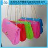 shopping bag silicone,fashion silicone shopping bag,chain jelly bag silicone