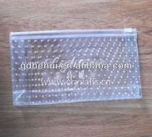 Printed sliding zipper pvc gift bag