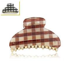 PH015 Japanese style hair accessory fashion mix colors lattice hair claw clip