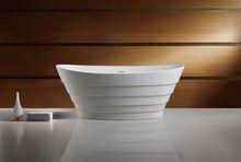 artificial stone freestanding round bathtub