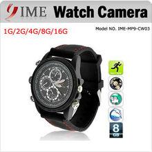 HD Waterproof Sport watch camera USB 2.0 Watch hidden Camera Video Recorder,Mini DV DVR