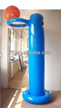 Inflatable basketball and basketball net