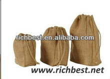 recyclable jute drawstring pouches