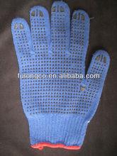 polycotton with pvc dots glove