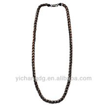 Stainless Steel Brown and Black Wheat 8mm