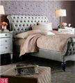 de estilo francés de madera de roble de ropa de cama sábanas soild madera cama para sala de estar