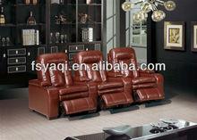 high grade leather sofa modern recliner sofa set YA-606