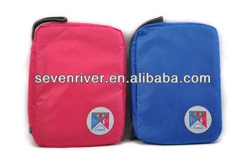 New Design Print Hanging Toiletry Bags/Travel Zipper Rround Makeup Organizer Bags/Big Size Handle Cosmetic Bag