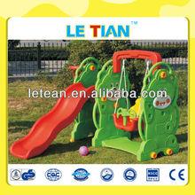 Good quality kids small plastic slide and swing set LT-2158J