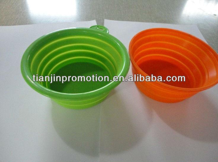 Cheap foldable eco-friendly pet travel bowl
