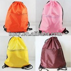 promotional polyester drawstring bag