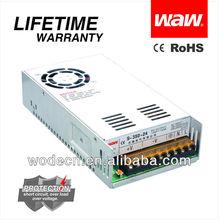 CE ROHS approved 12v 300w led transformer(S-300-12)