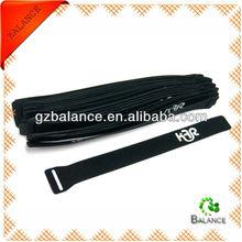 logo printed black velcro reusable cable tie factory
