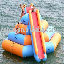 2013 novel style giant inflatable floating water slide with CE/UL air blower