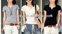 Summer hot selling new design cotton 2013 korea t-shirt lady fashion