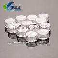 3 g de plástico PS transparente crema jarra de muestreo para envases cosméticos 12 unid / dozen