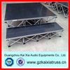 aluminum frame stage with plywood platform