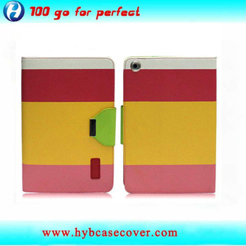 Guangzhou factory manufature leather cellphone flip case for ipad mini