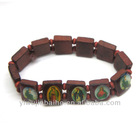 Wood Bracelet with Pictures,2013 Popular Bracelet,Custom Wooden Beads Bracelet