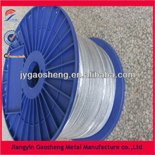 7X19 galvanized steel cable in plastic reel for aviation