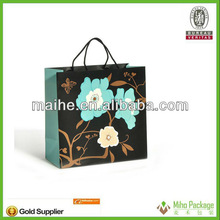 rectangular paper shopping bag/luxury paper printed shopping bag