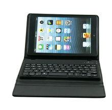 Bluetooth Leather Keyboard Case for iPad Mini