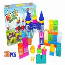 large plastic castle building blocks toy,leyi block building