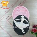 Fondant silicone visage moules pour décoration de gâteau