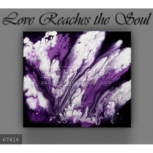 Handmade new modern wall decoration Oil painting on canvas, Abstract Painting art purple,black,white,Love Reaches the Soul