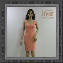 2013 Summer Pink Sleeveless Bandage Dresses for Veiled Girls