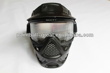 paintball mask with double anti-fog lenses