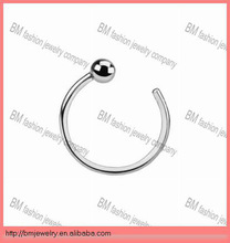 316L stainless steel nose hoop ring with ball body piercing jewelry