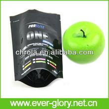 Hot Sealing Standing Up Zip Lock Black Printing Plastic Bags Manufacturers