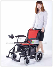 Folding aluminium electric wheelchair powertec f15