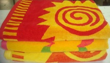 Bright colour beach towels