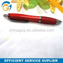 Cheap Simple Transparent Rubber Grip Factory Price Click Ballpen Red Logo Ballpen