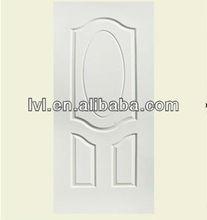 HDF MOULDED DOOR SKIN(White In Oak Finish)(3 Panel Oval)