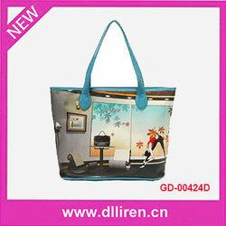 fashion sight photo printing pvc shoulder bag guangzhou