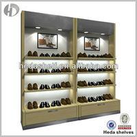 wall hanging shoe store display shelves