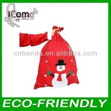 Christmas Promotional Foldable Polyester Shopping Bag
