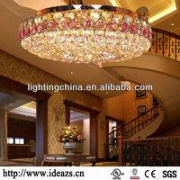 2013 Purple color chandelier crystal circle design D65049