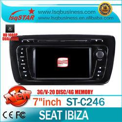 S100 platform autoradio for seat ibiza with A8 Chipset 3G WIFI GPS /BT/TV/Radio/20 Disc CDC/IPOD/3-Zone