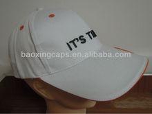 white sandwich bill cotton golf sport hats and caps manufacturer