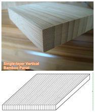 Natural Color I Shape Vertical Bamboo Panel for Furniture